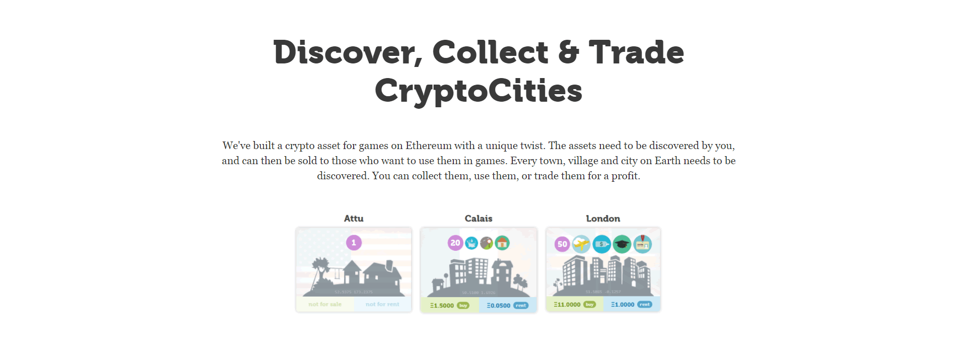 イーサリアム×モノポリー?DApps「CryptoCities(クリプトシティーズ)」の特徴や遊び方は?