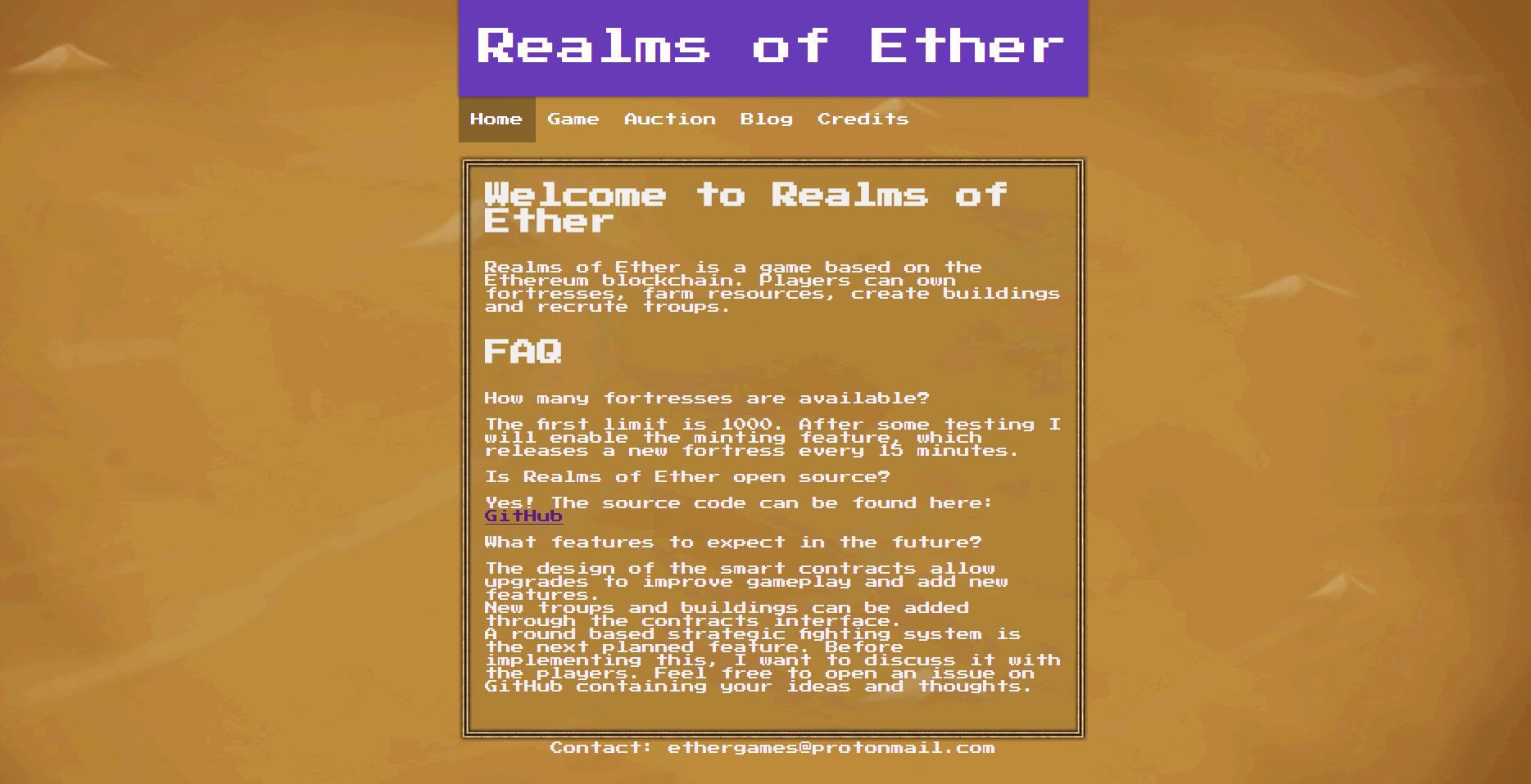 イーサリアム×シミュレーション!DApps「Realms of Ether(レアルムズオブイーサー) 」とは?