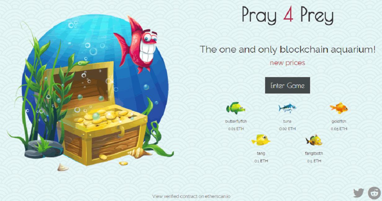 イーサリアム×アクアリウム!DApps「Pray4Prey(プレイフォープレイ)」の特徴と遊び方は?