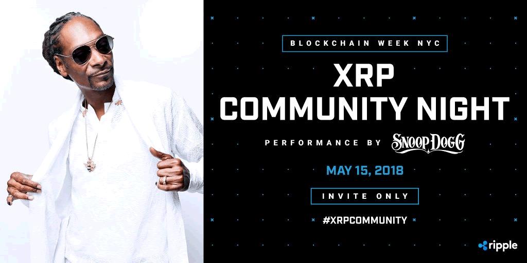 「XRPコミュニティーナイト」に有名ラッパーSnoop Doggが参加