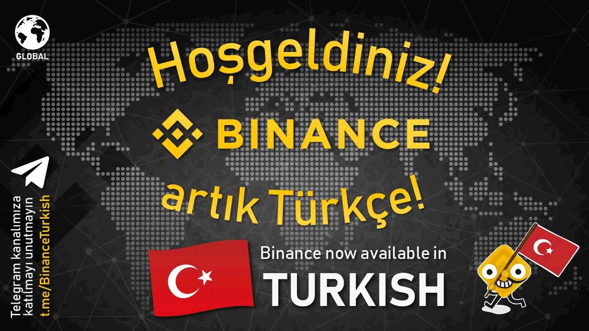 大手取引所Binance、トルコ語のサービスも開始