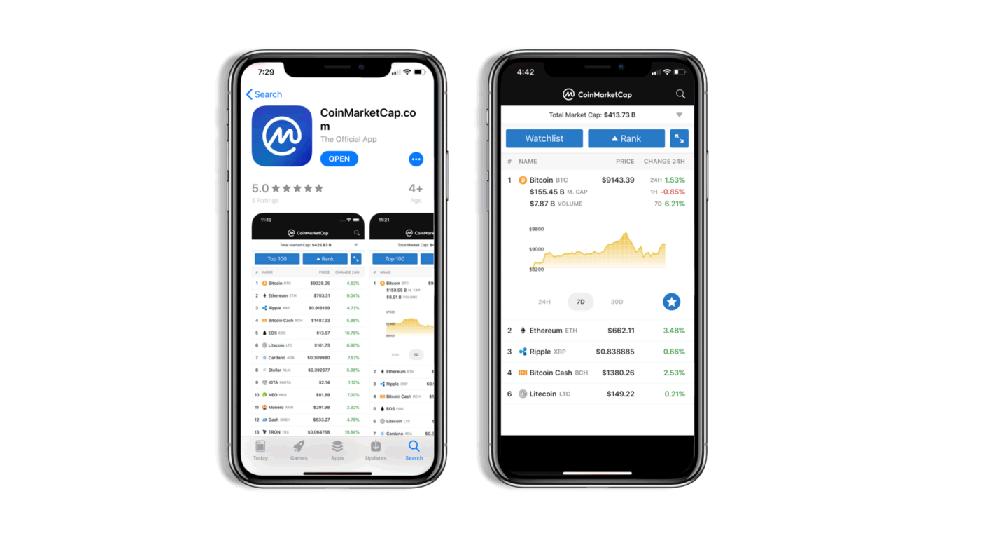 仮想通貨市場の情報サイトCoinMarketCapからiOS向けアプリがリリース!