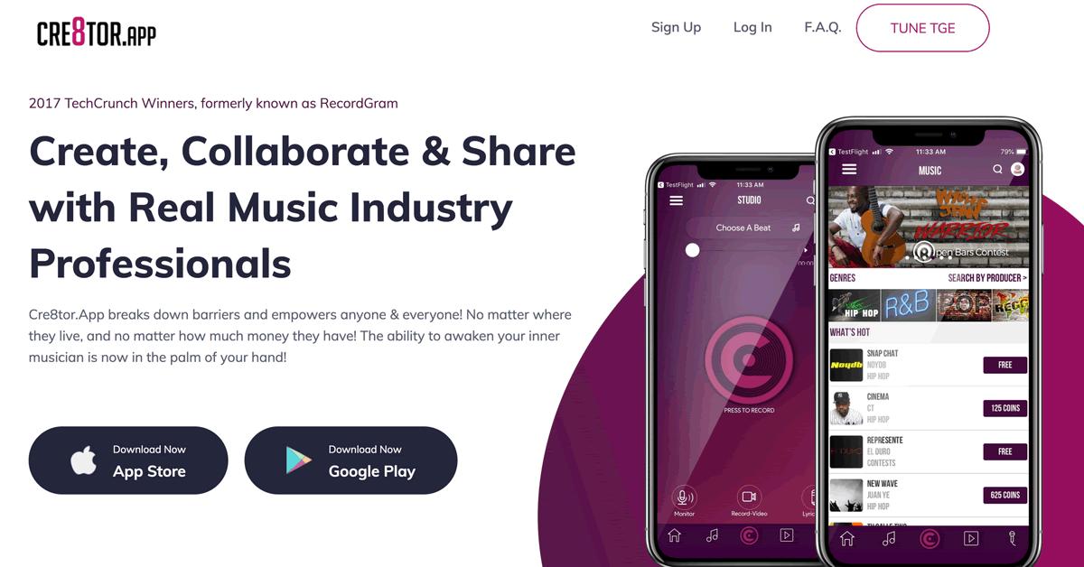 音楽コラボレーションアプリ「Cre8tor.app」が楽曲をNEMブロックチェーンに登録へ