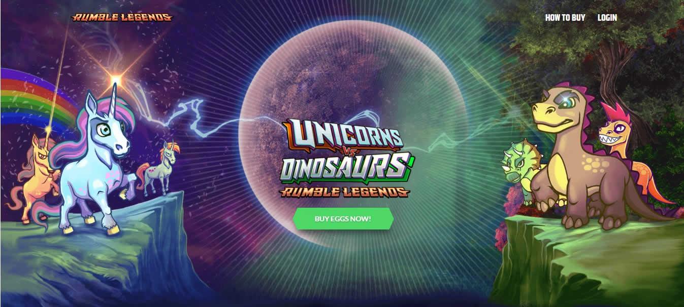 イーサリアムで対戦バトル!?DApps「Unicorns vs Dinosaurs(ユニコーンVSダイナソー)」の特徴と遊び方は?