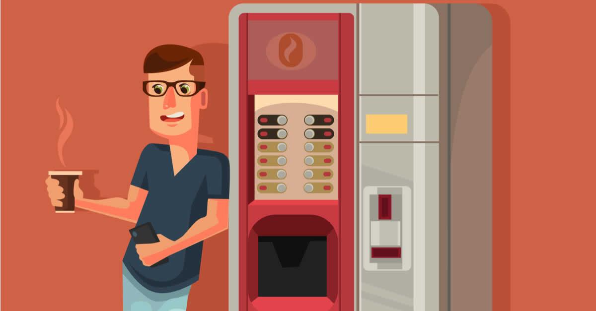 自動販売機のコーヒーがビットコイン(BTC)で買える!Bitfuryがライトニングネットワーク活用