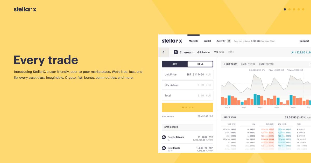 仮想通貨Stellar(ステラ/XLM)活用!手数料無料の分散型取引所「StellarX」オープン