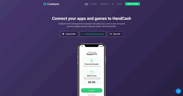ビットコインキャッシュ(BCH)ウォレット「HandCash」とアプリを接続できる開発キット「Cashport」リリース!