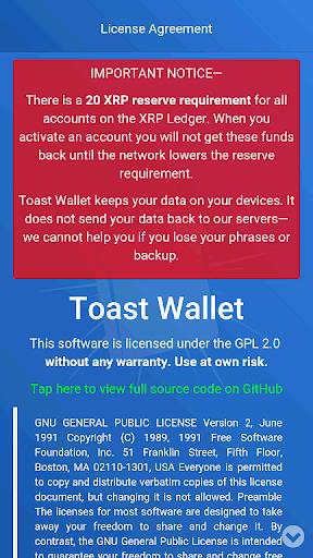 リップル(XRP)を管理するなら「Toast Wallet(トーストウォレット