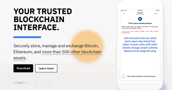 仮想通貨ウォレットアプリ「Coinomi(コイノミ)」で入出金する方法