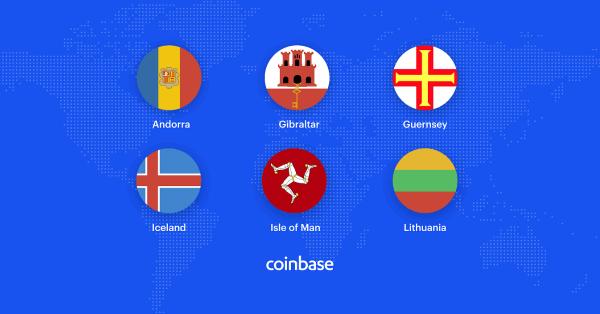 大手取引所コインベースがアイスランド、リトアニア、アンドラなどヨーロッパ6カ国でサービス拡大!