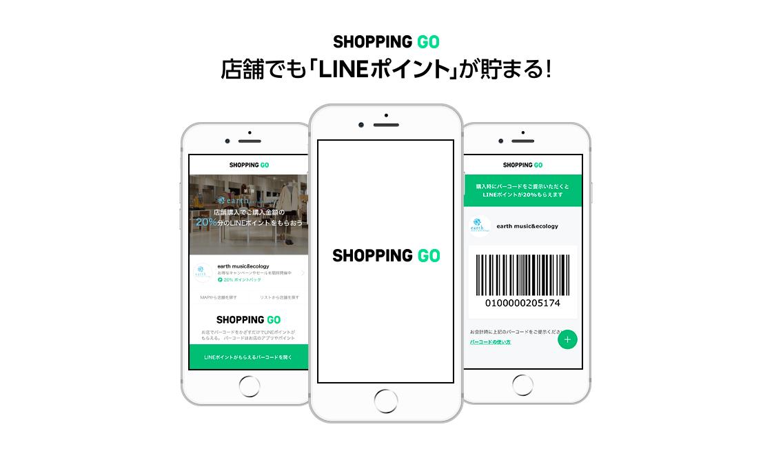 LINEポイントが貯まる「SHOPPING GO」、「E hyphen world gallery」の実店舗で利用可能に