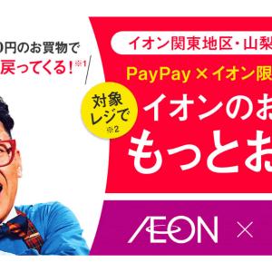 【31日まで実施中】PayPay、関東・山梨のイオン限定で最大20%還元