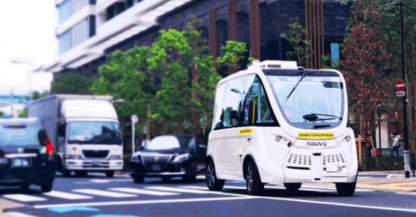 ソフトバンク子会社、ハンドルがない自動運転バスを公道で走行 国内初