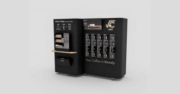 AI搭載の無人カフェロボットが丸の内に 事前注文でコーヒーをロッカーから受取り