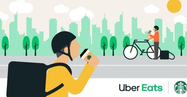 Uber Eats、配達パートナー向けにポイント制の特典を提供開始 装備の特別割引、スタバのコーヒーなど