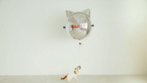 風船のように浮く猫型のドローン「にゃろーん」ドコモが公開