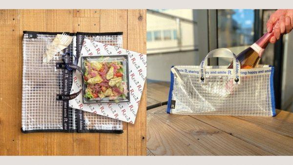ピザや寿司を平らに持ち運び。テイクアウト特化の2WAYバッグ
